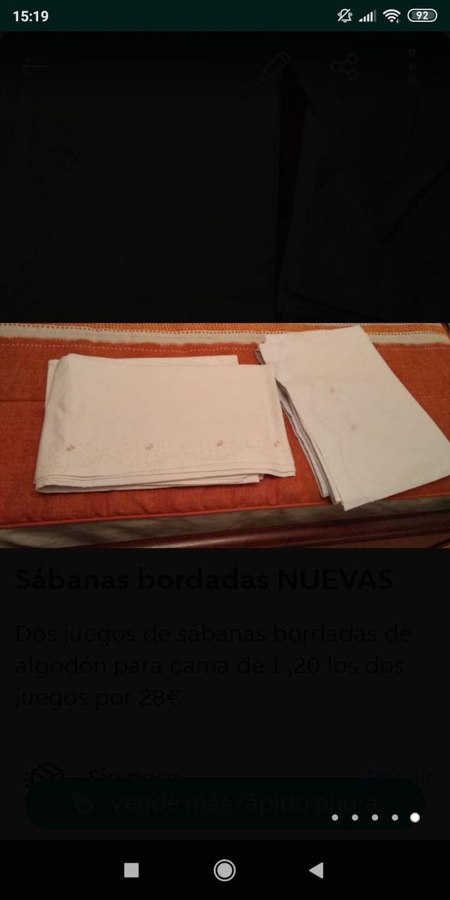 Juegos completos de sábanas y almohadón bordados