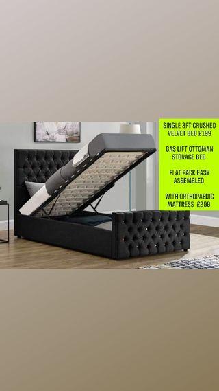 single 3ft ottoman storage bed