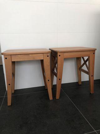 2 taburetes Ingolf Ikea