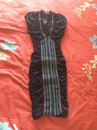 Vestido mango Suit S de vestir entallado