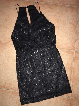 Vestido negro de noche, coctail o fiesta T-38/40
