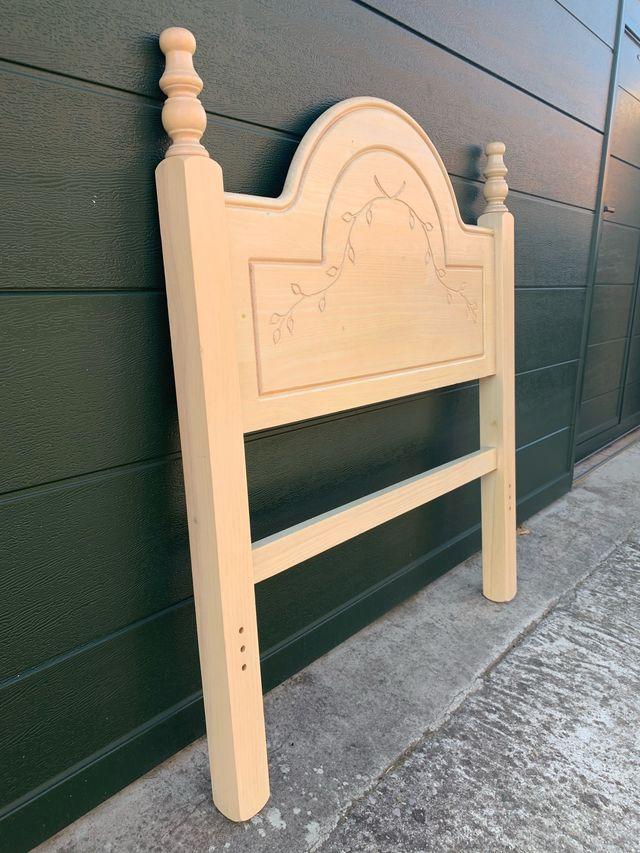 Cabecero de 90 cm, madera estilo provenzal