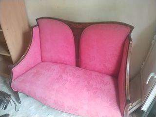 Sofá estilo Luis XV biplaza