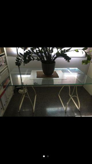 mesa de salón de cristal de ikea
