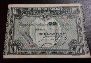 Billete 100 pesetas, 1937
