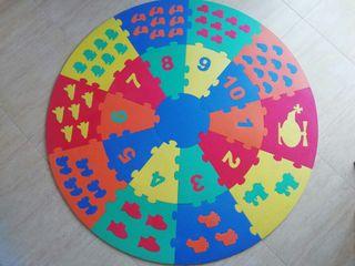 Alfombra puzzle numeros Foam