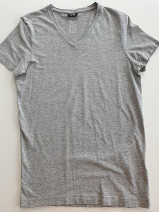 Camiseta básica Hm gris