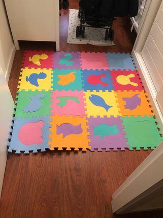 Alfombra puzzle niños 16 piezas