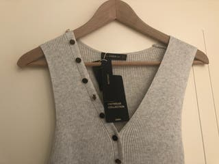 Vestido Zara canale gris Talla S