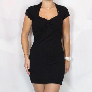 Vestido negro pedrería Morgan M