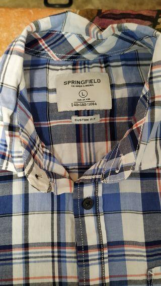 camisa de hombre talla L Springfield