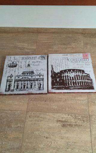 dos cuadros grandes de 50 × 50 cada uno son nuevos