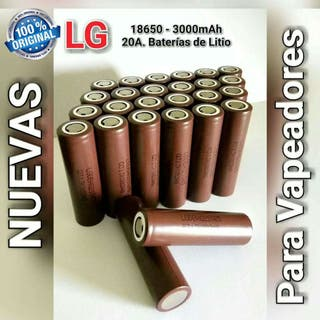 Baterías Litio 18650 LG 3000mAh 20A HG2 Recargables Nuevas