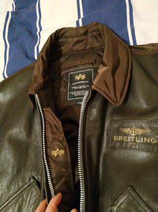 BREITLING by ALPHA INDUSTRIES rare Bomber Jacket