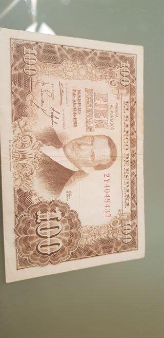billete españa 100 pesetas Julio Romero 2y