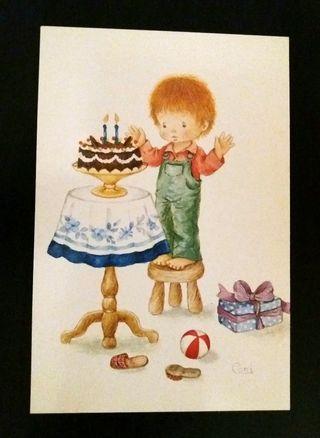 Postal cumpleaños años 70/80
