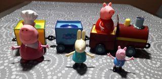 tren pepa pig y muñecos