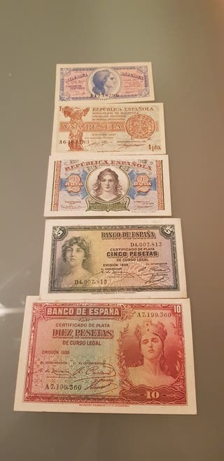 lote billetes españa