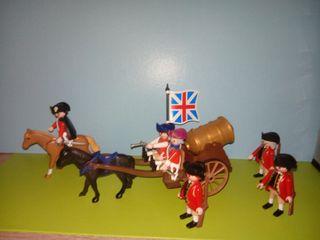 playmobil lote soldados ingleses caravana