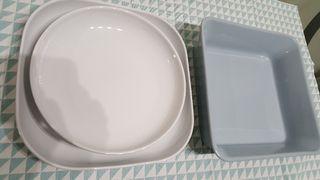 fuentes porcelana para horno