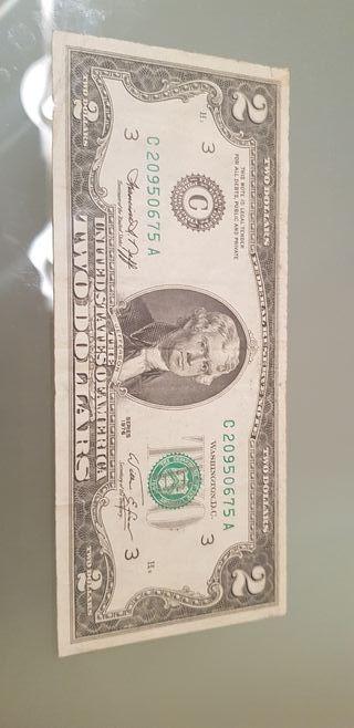 billete usa 2 dollar 1976