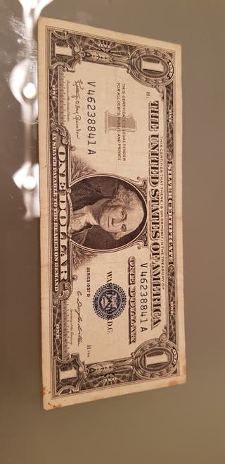 usa 1 dollar 1957 b silver certificate billete