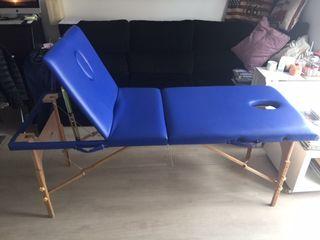 Camilla masaje portatil de madera regulable en alt