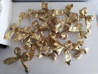 Lazos dorados de Navidad