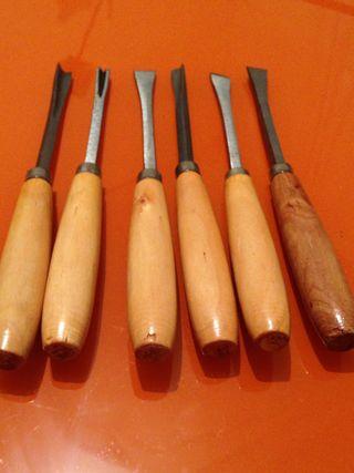 Formones tallado de madera