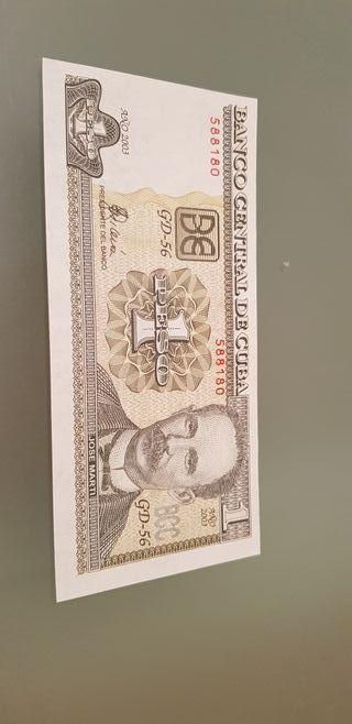 billete cuba 1 peso unc