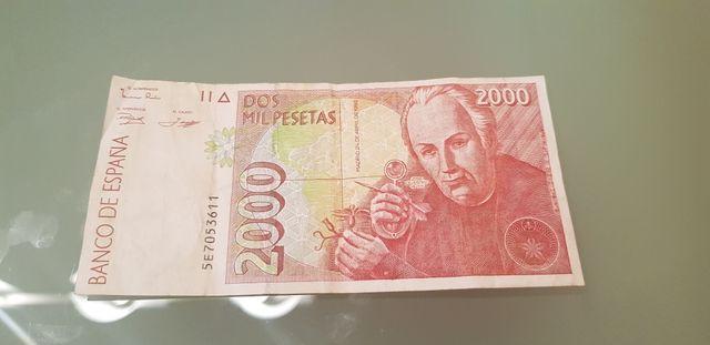 billete españa 2000 pesetas 1992