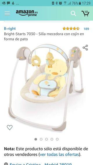 Silla mecedora a pilas para bebé