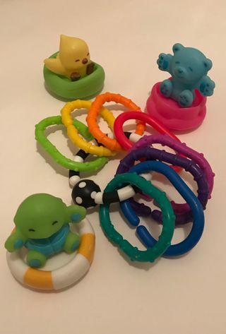 Set juguetes bebé buenas marcas! Anillas y bañera.