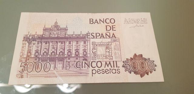 billete españa 5000 pesetas juan carlos