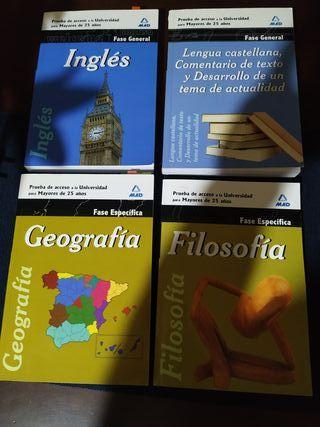 libros para acceso a la universidad mayores de 25