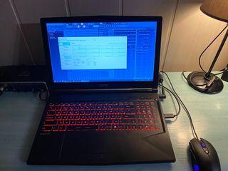 Portátil gaming MSI i7 8750h + gtx 1060 6gb