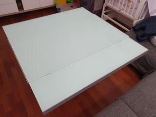 mesa extensible de cristal