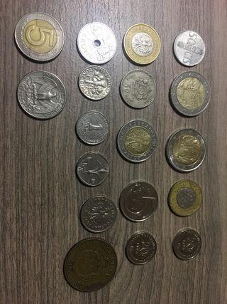 Antiguas monedas y monedas modernas de Europa
