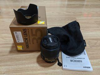 Objetivo Nikon 35mm f/1.8 G ED