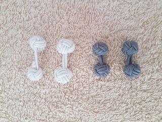 Fabric Knot Cufflinks x2