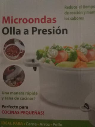Olla a presión para microondas.