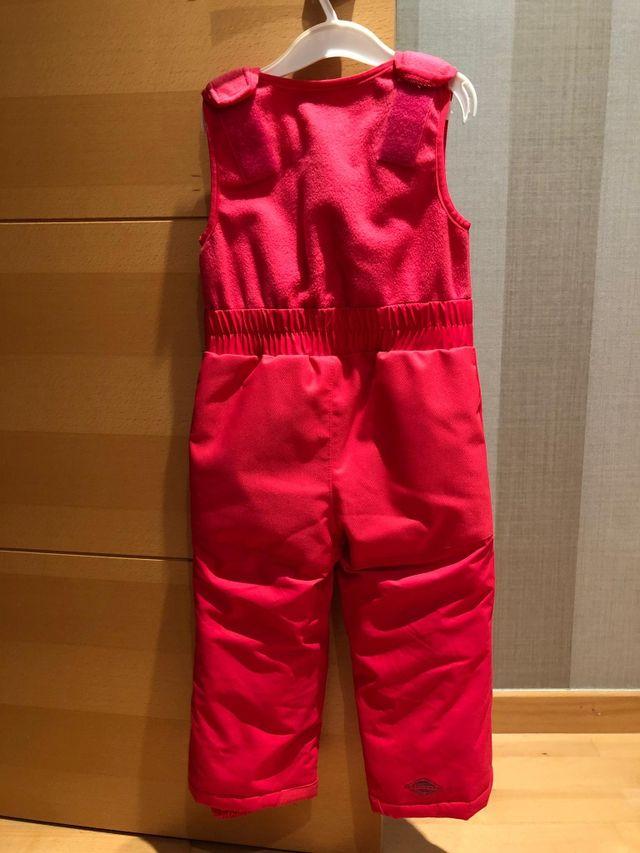 mono nieve talla 3 rosa
