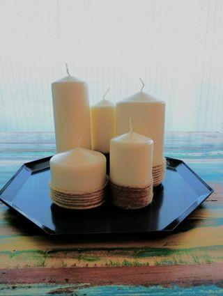 Centro de mesa 5 velas