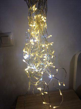 Cortina luces led navidad