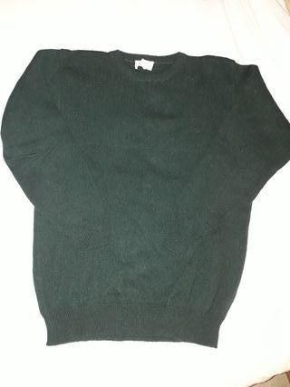 Jersey verde de lana talla L