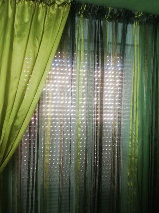 cortinas de salón raso
