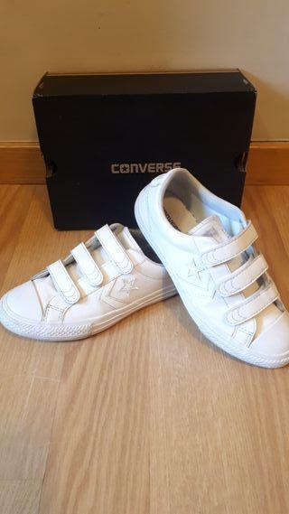 Zapatillas converse n.35 originales blancas