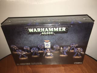 Warhammer space marines tactical squad precitado