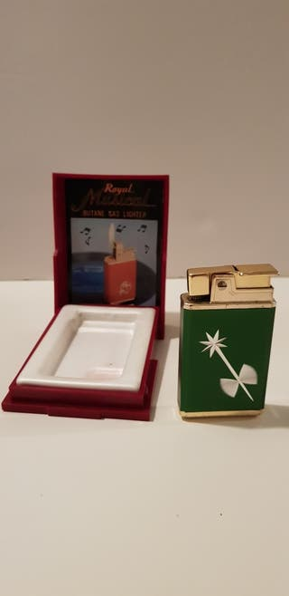 Antiguo mechero ROYAL MUSICAL GAS LIGHTER 1960s