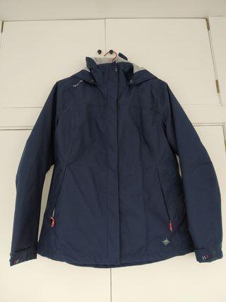 chaqueta tribord impremeable azul. t. 42